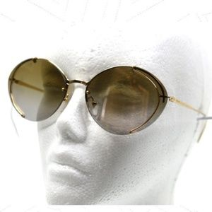 Prada SPR 60U 5AK-2G2 Gold Authentic Sunglasses